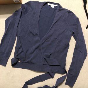 DVF Crop Wrap Sweater